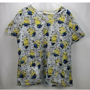 Despicable Me Scrub Top Size X Large  Minions